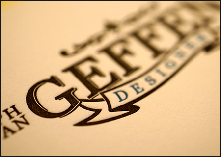 'Geffen' Business Cards