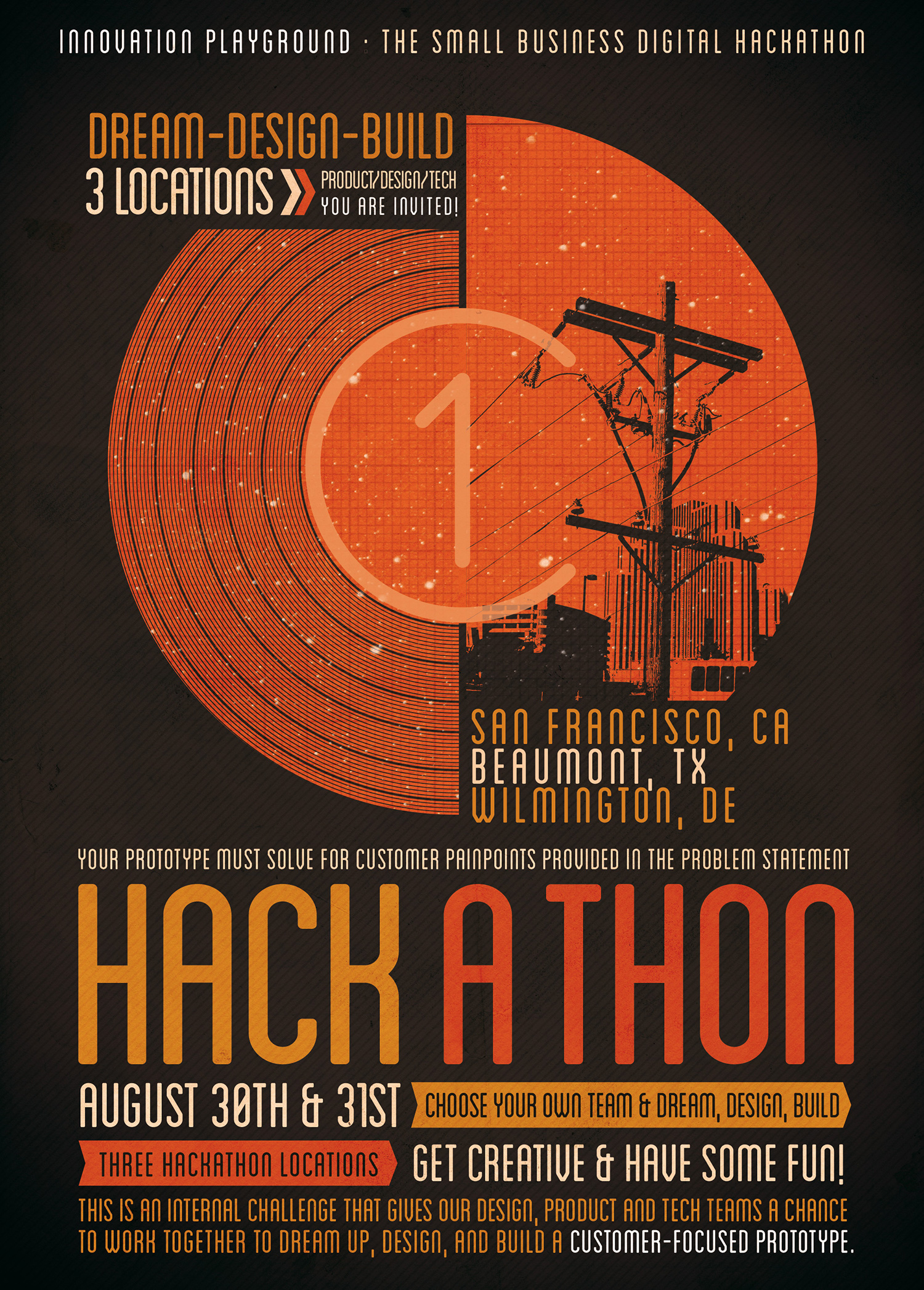 small business hackathon poster