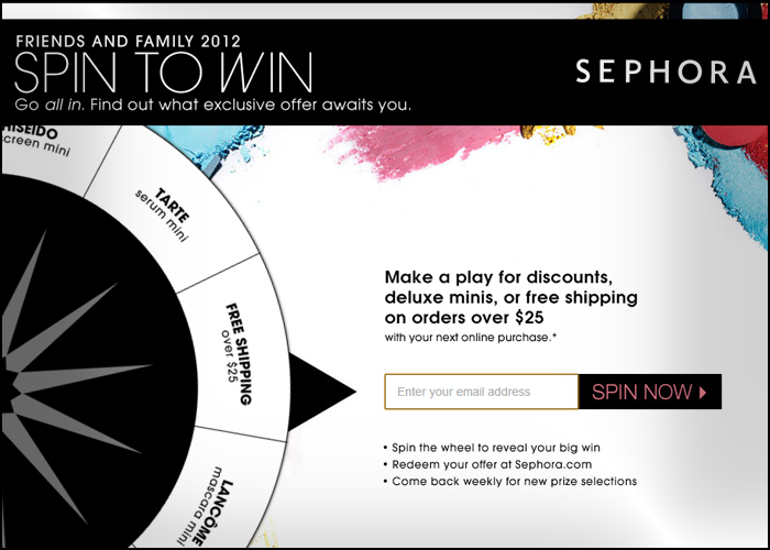 Sephora : Beauty Roulette