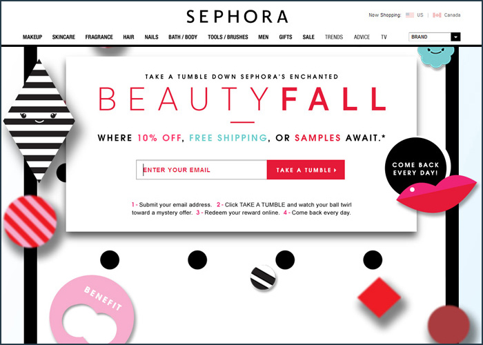 Sephora : BeautyFall in Parallax